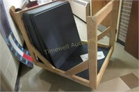Card tables on rolling stand