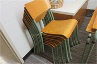 Stacking tables and chairs