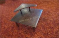 Unusual retro step end table