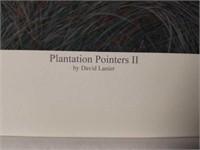 "Signed David Lanier ""Plantation Pointers II"" Print"