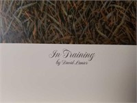 "Signed David Lanier ""In Training"" A.P Print #25/95"