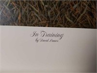 "Signed David Lanier ""In Training"" A.P Print #24/95"