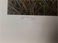 """Signed David Lanier """"In Training"""" A.P Print #21/95"""