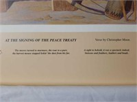 """Signed Bryan Moon """"Signing of the Peace Treaty"""""""