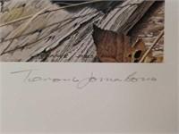 "Signed Terance James Bond ""House Sparrow"" Print"