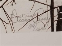 """Signed Diana Casey """"Where Paths Cross"""" Print"""