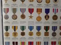 Large Framed Medals of America