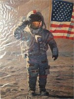 """Signed Alan Bean """"A Fire to be Lighted"""" Print"""