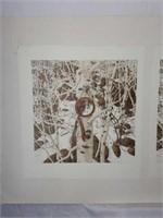 "3 Panel Bev Doolittle ""Two More Indian Horses"""