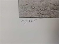 "Signed Robert Shoofly Shufelt ""Flankers"" Print"
