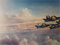 """Signed Strickland """"Blue Angels 50th Anniversary"""""""