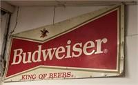 Metal Budweiser - King of Beers sign