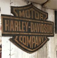 Harley Davidson Motorcycle sign