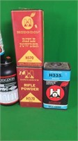 Assorted Partial Containers Of Rifle Powder
