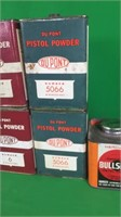 Assorted Partial Containers Of Pistol Powder