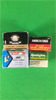 .22LR- 4 Boxes of Various Ammo- 50 Rounds Per Box