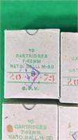 7.62mm NATO Ball M-80 Ammo-10 Round Boxes