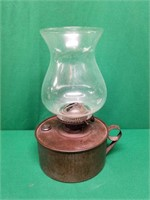 Large Glass Top Oil Lamp