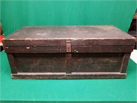 Wooden Chest with Metal Inserts
