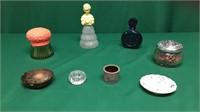 Asst Perfume Bottles, Hand Mirrors, Purses