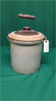 Crock with Handle and Lid