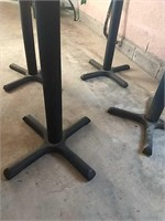 Wood Top Square tables with metal base x4