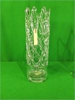 Tall glass web sculptures