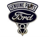 FORD V8 GENUINE PARTS DIECUT DSP SIGN