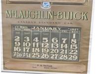 RARE 1927 MCLAUGHLIN-BUICK ADVERTISING CALENDAR
