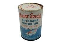 MARINE SPECIAL OUTBOARD MOTOR OIL U.S QT. CAN