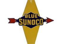 BLUE SUNOCO PORC. PUMP PLATE
