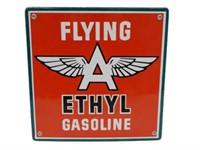 FLYING A ETHYL GASOLINE PORC. PUMP PLATE