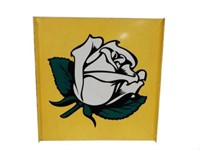 WHITE ROSE D/S PAINTED METAL POLE SIGN