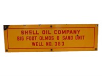 SHELL OIL COMPANY OIL WELL NO. 383 SSP SIGN