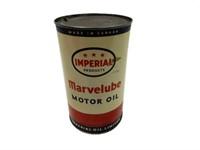 IMPERIAL 3 STAR MARVELUBE MOTOR OIL IMP. QT. CAN