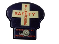 IMPERIAL OIL SAFETY PLEDGE LICENSE PLATE TOPPER