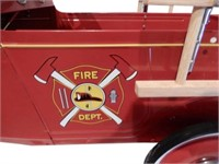 MODEL A FORD FIRE TRUCK PEDAL CAR- REPRO