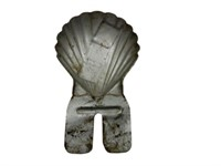 SHELL CLAMSHELL EMBOSSED LICENSE PLATE TOPPER