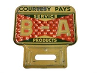 1953 B-A BOWTIE REFLECTIVE LICENSE PLATE TOPPER