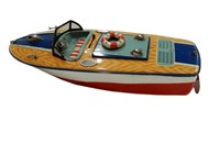 MSK TIN SPEED BOAT TOY