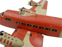 MARX TOYS TWA U.S. MAIL CARRIER TIN AIRPLANE