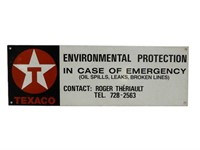 TEXACO ENVIRONMENTAL PROTECTION S/S ALUM. SIGN