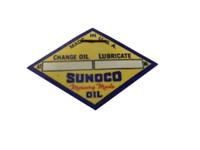 1940'S SUNOCO CARDBOARD OIL CHANGE REMINDER PIN