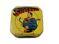 RARE 1940'S SUPERMAN DIME REGISTER BANK