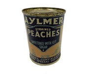 AYLMER STRAINED PEACHES ADVERTISING PENNY BANK