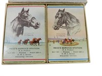 B-A REID'S SERVICE STATION TWO PACK PLAYING CARDS