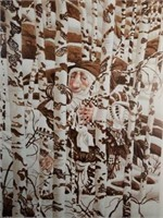 "Signed Christensen ""Camouflaged Character"" Print"