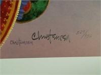 "Signed Christensen ""We Three Kings"" Print 529/950"