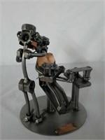 H & K Dentist With Patient Steel Sculpture