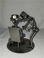H & K Doctor Steel Sculpture